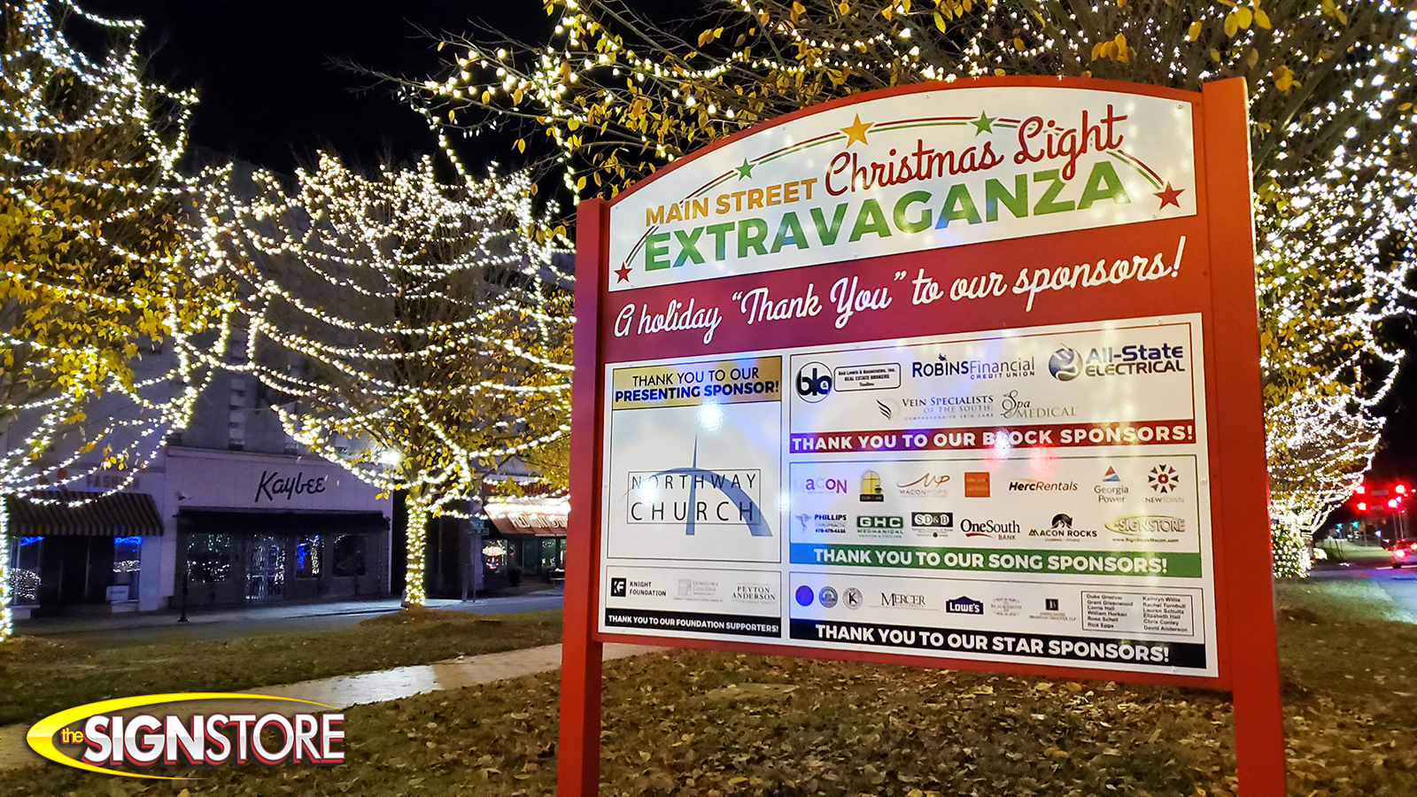 The Sign Store - Main Street Christmas Light Extravaganza